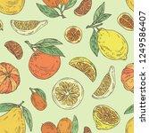 background with citrus fruitst  ... | Shutterstock .eps vector #1249586407