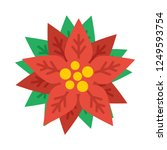 poinsettia flat icon. you can...