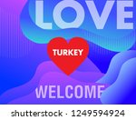 turkey country love with heart.    Shutterstock .eps vector #1249594924