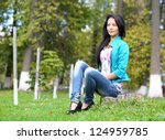 portrait of sweet young woman... | Shutterstock . vector #124959785