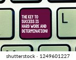 text sign showing the key to... | Shutterstock . vector #1249601227