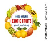 fruit from exotic countries... | Shutterstock .eps vector #1249611574