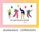corporate party landing page... | Shutterstock .eps vector #1249614241
