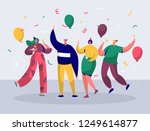 group of joyful people... | Shutterstock .eps vector #1249614877