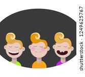 primitive cartoon flat style... | Shutterstock .eps vector #1249625767