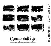 set of black brush stroke and... | Shutterstock .eps vector #1249635607