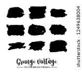 set of black brush stroke and...   Shutterstock .eps vector #1249638004