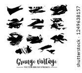 set of black brush stroke and... | Shutterstock .eps vector #1249638157