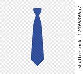 blue tie icon. flat... | Shutterstock .eps vector #1249639657