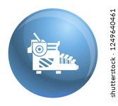 typewriter icon. simple... | Shutterstock .eps vector #1249640461