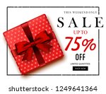 christmas sale   illustration | Shutterstock .eps vector #1249641364