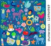 zoo alphabet | Shutterstock .eps vector #124964969