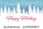happy holidays banner design.... | Shutterstock .eps vector #1249650817