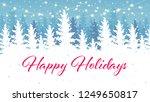 happy holidays banner design.... | Shutterstock .eps vector #1249650817