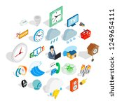 temporary problem icons set.... | Shutterstock .eps vector #1249654111
