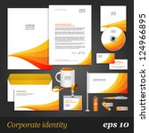 white corporate identity... | Shutterstock .eps vector #124966895