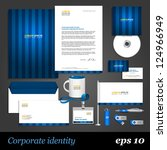 blue corporate identity... | Shutterstock .eps vector #124966949