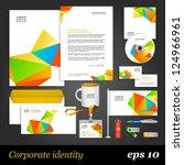 white corporate identity... | Shutterstock .eps vector #124966961