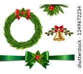 christmas set isolated  | Shutterstock . vector #1249672234