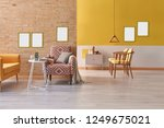 yellow living room  yellow... | Shutterstock . vector #1249675021
