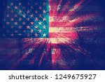 usa flag abstract background | Shutterstock . vector #1249675927