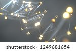 glass wireframe shape. abstract ... | Shutterstock . vector #1249681654