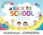 back to school banner... | Shutterstock .eps vector #1249683091