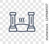 roman bath icon. trendy linear... | Shutterstock .eps vector #1249684537