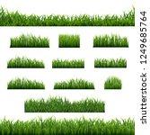 big set green grass borders... | Shutterstock . vector #1249685764