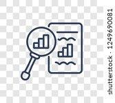 seo ranking icon. trendy linear ... | Shutterstock .eps vector #1249690081