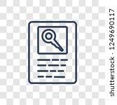 seo keywords icon. trendy... | Shutterstock .eps vector #1249690117
