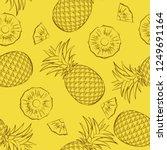seamless tropical fruit pattern.... | Shutterstock .eps vector #1249691164