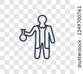 chemist icon. trendy linear... | Shutterstock .eps vector #1249700761