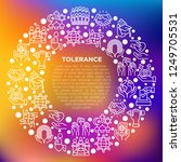 tolerance concept in circle... | Shutterstock .eps vector #1249705531
