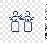debate icon. trendy linear... | Shutterstock .eps vector #1249706617
