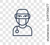 surgeon face icon. trendy...   Shutterstock .eps vector #1249706677