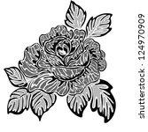 rose motif  pattern | Shutterstock . vector #124970909