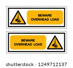 beware overhead load symbol... | Shutterstock .eps vector #1249712137