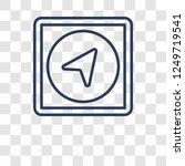 navigation icon. trendy... | Shutterstock .eps vector #1249719541