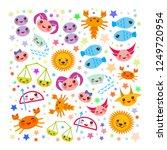 aries  taurus  gemini  cancer ... | Shutterstock .eps vector #1249720954
