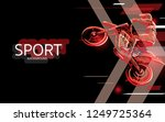 modern poster for sports. motor ... | Shutterstock .eps vector #1249725364