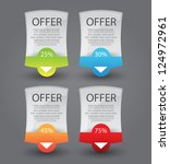 web banners for sale and... | Shutterstock .eps vector #124972961