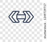 double arrow icon. trendy... | Shutterstock .eps vector #1249729717
