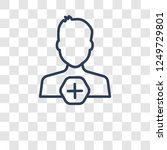 add user icon. trendy add user... | Shutterstock .eps vector #1249729801