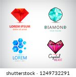 vector set of diamond  crystal... | Shutterstock .eps vector #1249732291