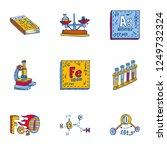 chemistry element icon set.... | Shutterstock . vector #1249732324