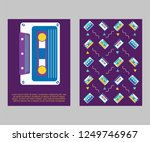 retro party 80's banner  cover...   Shutterstock .eps vector #1249746967