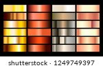 gold rose  bronze  silver and... | Shutterstock .eps vector #1249749397