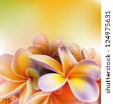 frangipani flowers | Shutterstock .eps vector #124975631