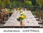 table set up for a special... | Shutterstock . vector #1249759621